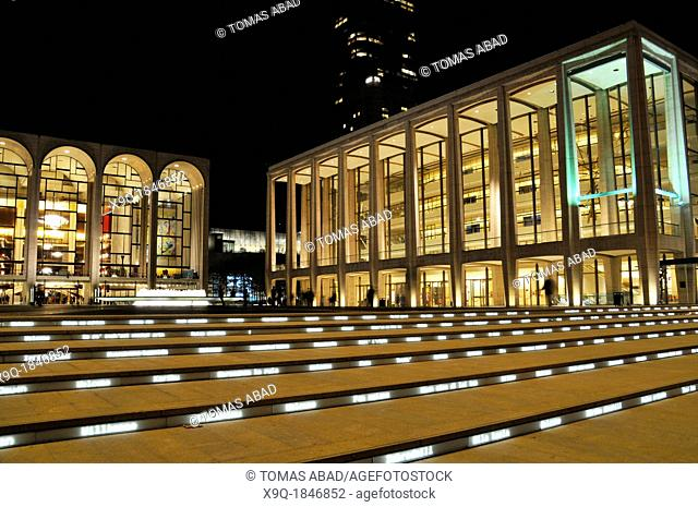 The renovated Lincoln Center Performing Arts center, Broadway, New York City, USA