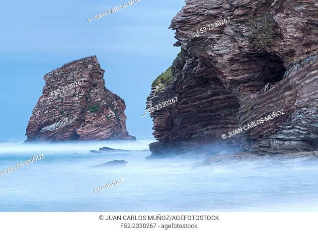 The Twin Rocks of Hendaye, Hendaye, Pyrenees Atlantiques Department, Aquitania, France, Europe