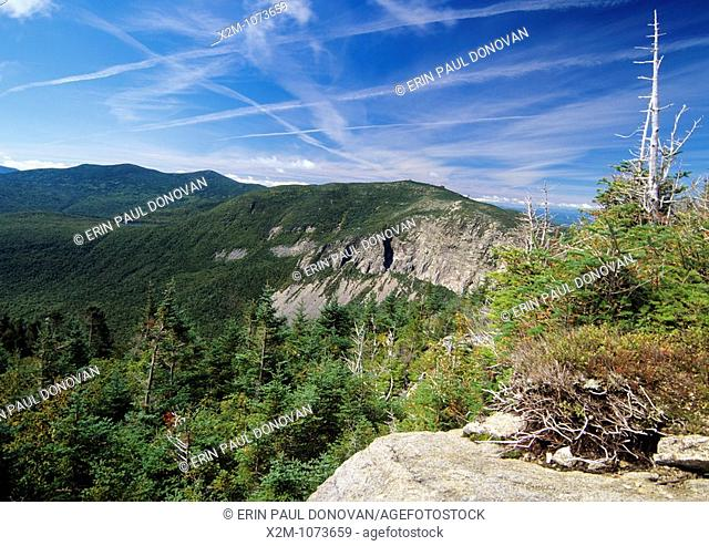 Scenic views of Cannon Mountain from Old Bridal Path  Located in Franconia Notch, which is in the White Mountain National Forest of New Hampshire, USA