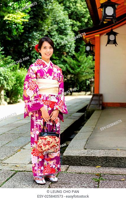Japanese woman in temple