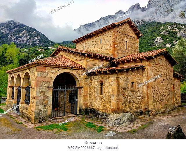 Church of Santa María de Lebeña, declarated National Monument in 1893, one of the most representative examples of pre-romanesque art