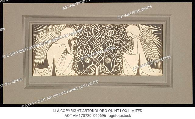 [Angels with Interlace], 1900s–1910s, Platinum print, Image (visible): 3 9/16 × 8 15/16 in. (9.1 × 22.7 cm), Photographs, Frederick H