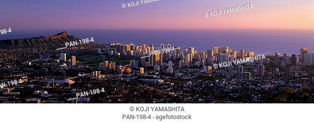 View from Tantalus, Oahu, Hawaii, USA