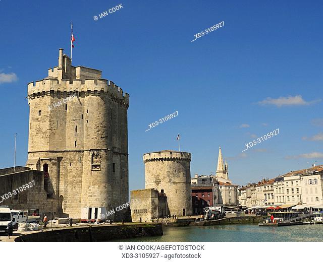 three towers, La Rochelle, Charente-Maritime Department, Nouvelle-Aquitaine, France