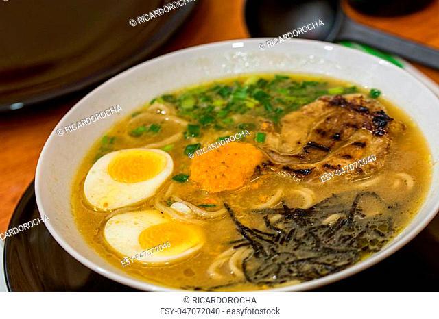 ramen broth, japanese noodle soup