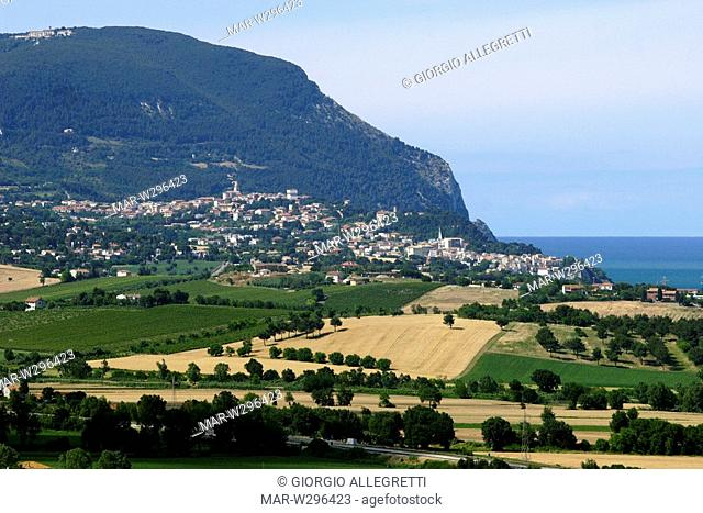 europe, italy, marche, loreto, promontory of conero, numana and sirolo