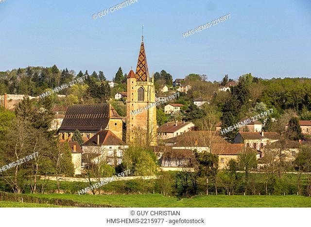 France, Loire, church of La Benisson Dieu, Brionnais