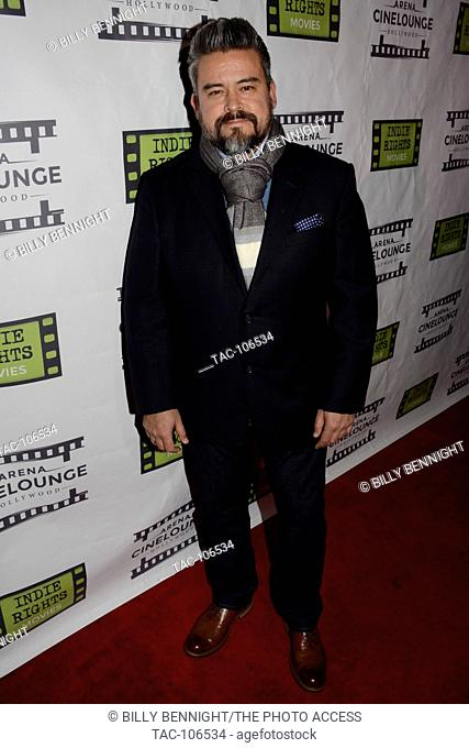 """Jose Gallegos arrives at the Los Angeles Screening of """"""""The Boatman"""""""" at Arena Cinelounge in Hollywood, Californioa on Decembar 16, 2016"""