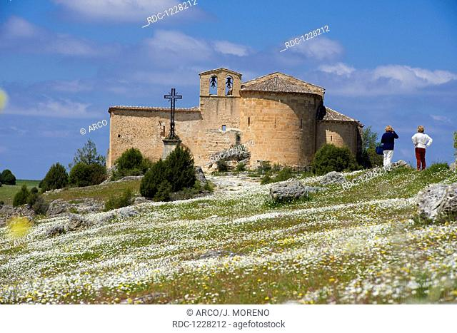 San Frutos del Duraton Hermitage, Hoces del Duraton, Duraton river gorges, Hoces del Rio Duraton Natural Park, Sepulveda, Segovia province, Castilla-Leon, Spain