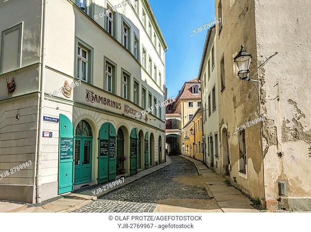 Old town at the Obermarkt of Goerlitz, Saxony, Germany