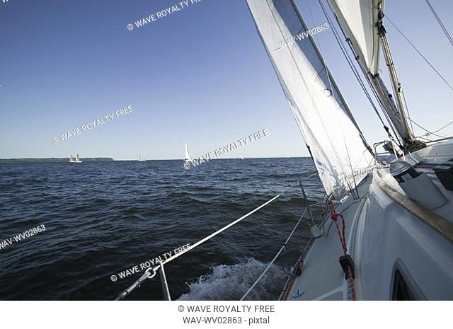 Sail racing, West Vancouver Yacht Club, West Vancouver, BC Canada