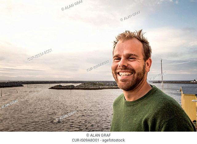 Portrait of man smiling, Andenes, Norway
