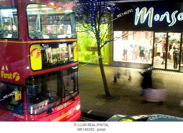 Bus Route, Bus, Oxford Street, London, England