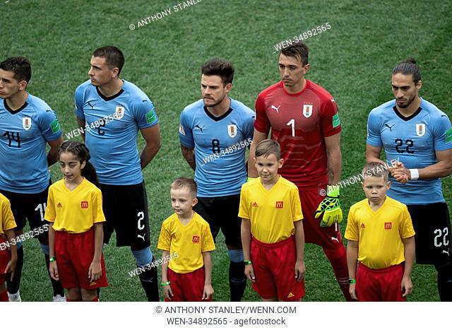 186719f3d Uruguay vs France Quarter Final FIFA 2018 World Cup Featuring  Diego  LAXALT