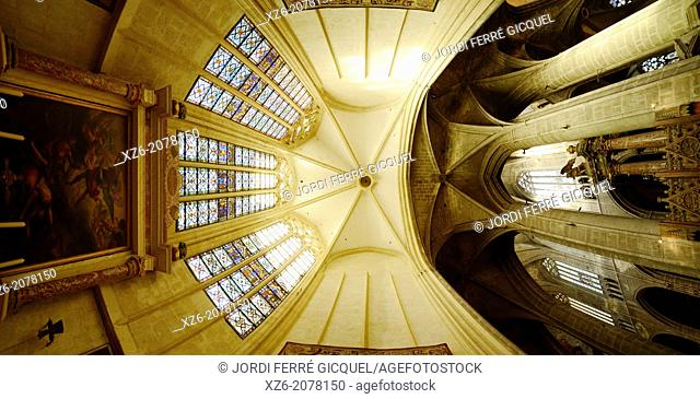 St. Just and St. Pasteur cathedral, Narbonne. Aude, Languedoc-Roussillon, France, Europe