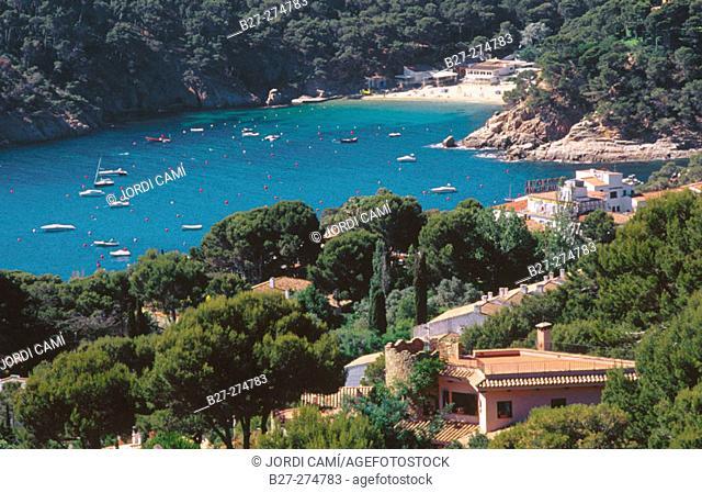 Fornells Cove (Cala de Fornells). Costa Brava. Girona province. Spain