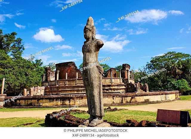 Sri Lanka, Ceylon, North Central Province, ancient city of Polonnaruwa, UNESCO World Heritage Site, quadrangle, Altar for Bodhisattva