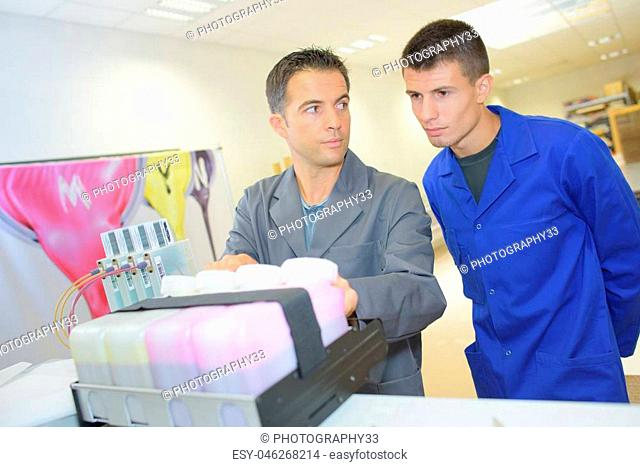 technician under supervision