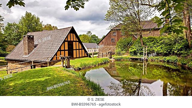 old ironworks and hammer mill Wendener Huette, Germany, North Rhine-Westphalia, Sauerland, Wenden-Huensborn