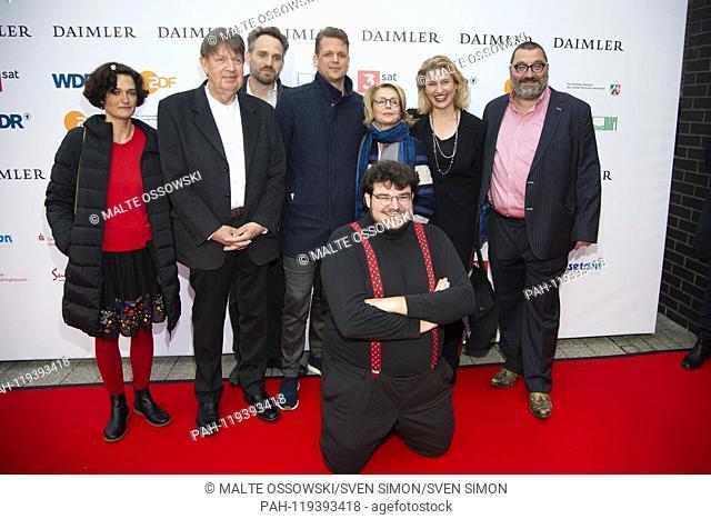 from left: xxxx Joerg GUDZUHN, Jörg, actor, xxx in front: Axel RANISCH, director, Soenke ANDRESEN, Sönke, 4.vr, Gisela SCHNEEBBERGER, actress, 3