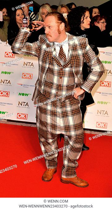 2016 National Television Awards (NTA's) held at The O2 - Arrivals Featuring: Leigh Francis (Keith Lemon), Leigh Francis Where: London
