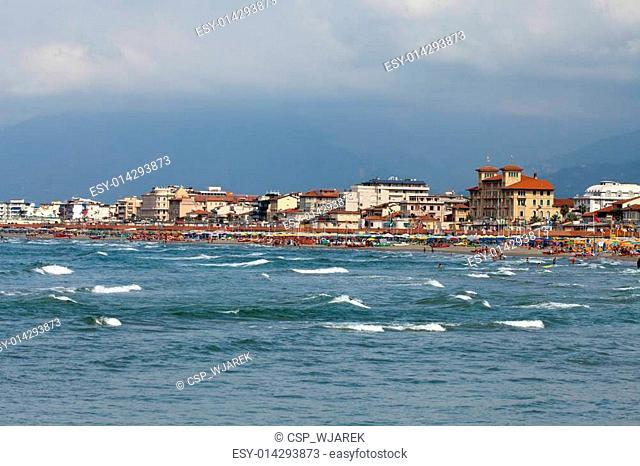 View of Versilia coast - Viareggio