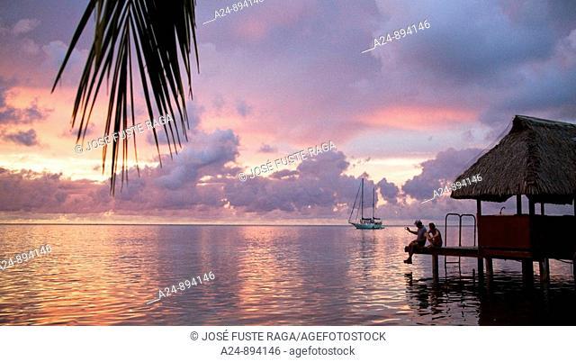 Sunset, Moorea, Society Islands, French Polynesia (May, 2009)