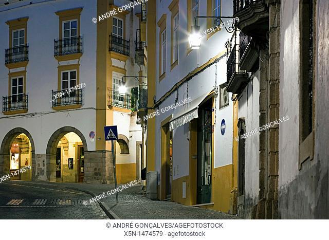Republica Street, Evora, Portugal, Europe