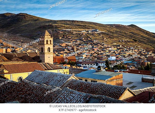 Church and convent of San Francisco, and skyline of the city, Potosi, Bolivia