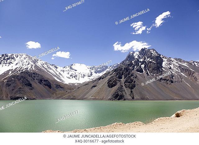 Lake of Yeso. Cajon del Maipo. Santiago of Chile