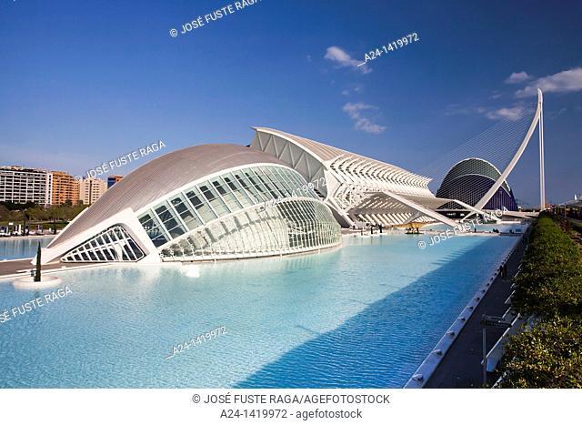 Spain, Valencia Comunity, Valencia City, The City of Arts and Science built by Calatrava, The Hemisferic