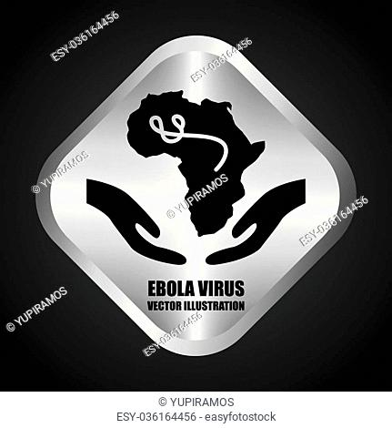 ebola graphic design , vector illustration
