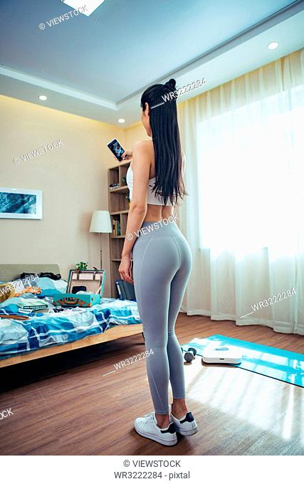 Young women fitness