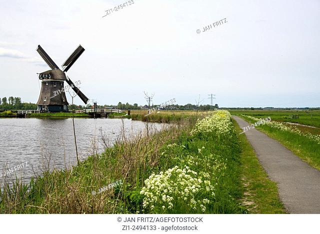 Mill Woudaap at Krommeniedijk, Holland