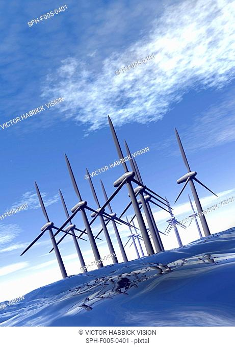 Offshore wind farm, artwork