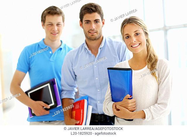 Students, School of Business, UPV, EHU, University of Basque Country, San Sebastian, Donostia, Gipuzkoa, Basque Country, Spain