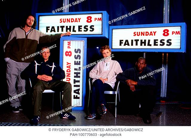 Faithless, britische Musikergruppe, bei einem Fotoshooting in München, Deutschland 1998. British band Faithless during a promotional photo shooting at Munich