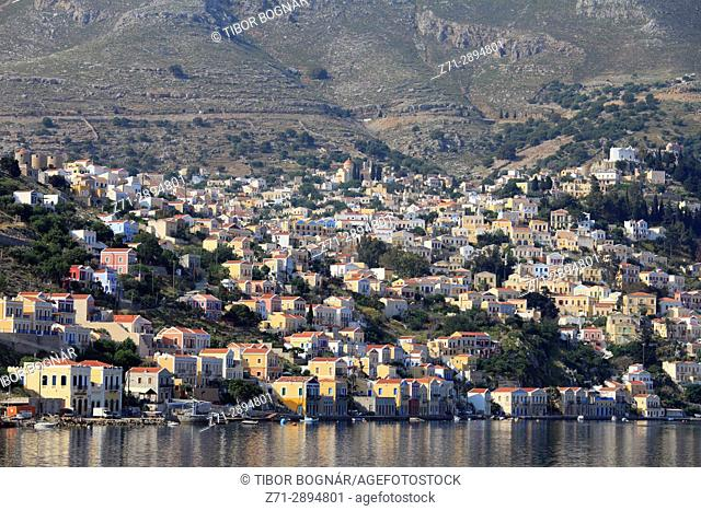 Greece, Dodecanese, Symi, Gialos, town, harbour,
