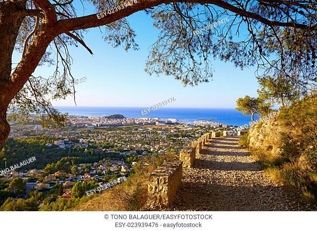 Denia track in Montgo mountain at Alicante Mediterranean Spain