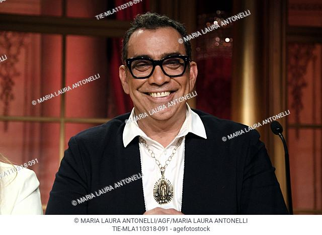 Member of jury Guillermo Mariotto during the talent show Dancing with the stars, Rome, ITALY-10-03-2018