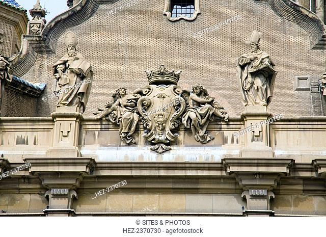 Architectural detail, Basilica of Our Lady of the Pillar, Zaragoza, Spain, 2007. Catedral-Basilica de Nuestra Senora del Pilar