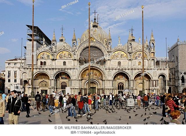 Piazza San Marco, Basilica of Saint Mark, Venice, Venezia, Italy, Europe