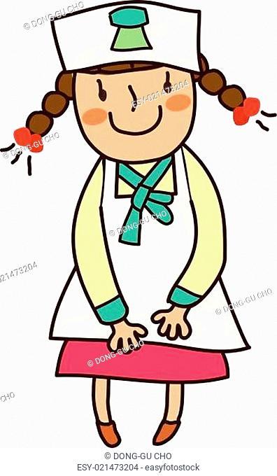 Portrait of girl wearing nurse uniform