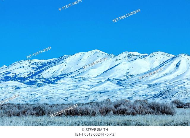 Snow covered mountain in Fairfield, Idaho