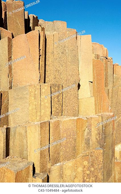 Namibia - The so-called 'organ pipes', basaltic rock formations near Twyfelfontein in the Damaraland
