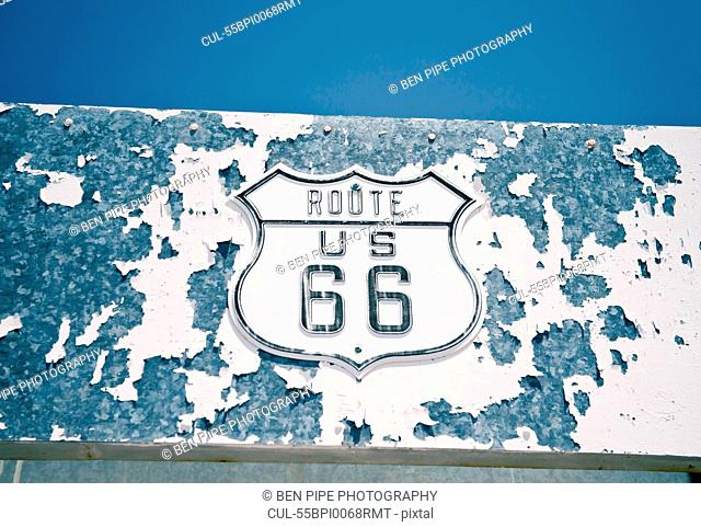 Route 66 sign, Amboy, California, USA