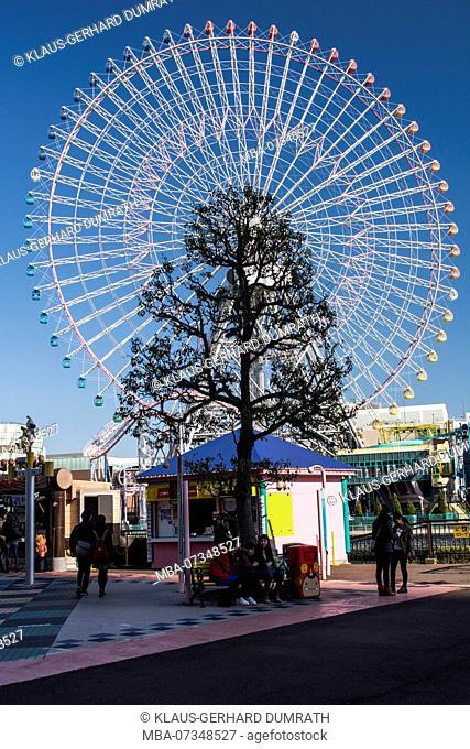 Cosmo World with ferris wheel from Yokohama, Japan