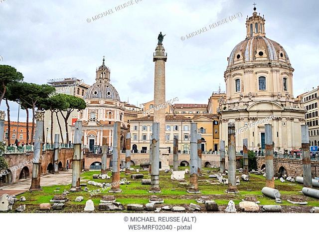 Trajan's Forum, Forum Romanum, Rome, Italy