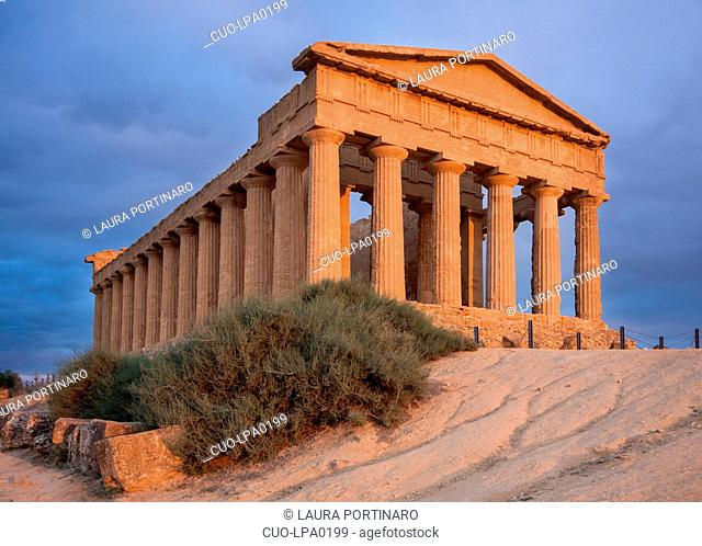 Temple of Concord in the Valley of the Temples in Sicily, Italy, Europe