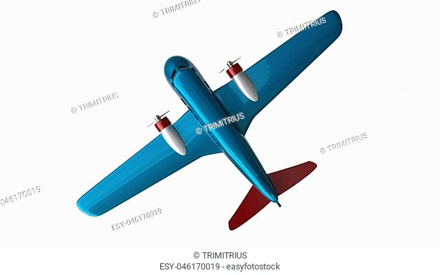 Blue cool toy plane